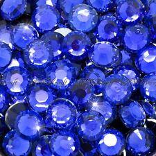Royal Blue 1000pcs Resin RhinestonesBeads Flat Back Nail Art Craft Gems