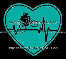 VRS Heartbeat Heart Cycling Mountain Bike Frame Female Helmet CAR METAL DECAL