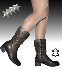 Stivali Stivaletti Biker boots Donna VERA PELLE 37 38 39 40 41