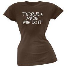 Cinco de Mayo - Tequila Made Me Do It Brown Soft Juniors T-Shirt