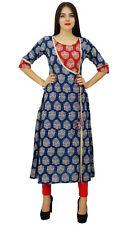 Bimba Womens Designer Indian Clothing Angrakha Style Cotton Kurta Kurti Formal E