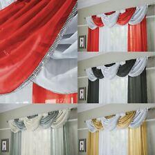 "Glitter Voile Curtain Swag Pelmets Decorative Valance Net Drape 22""x18"" New"
