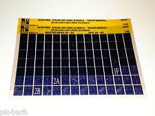 Microfich Ersatzteilkatalog Hyster Gabelstapler / Forklift E70 - 80 Stand 01/90