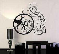 Vinyl Wall Decal Tire Service Repair Car Garage Decor Stickers Mural (ig4735)