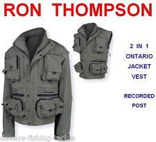 RON THOMPSON ONTARIO STALKING JACKET VEST WADING CARP PIKE TROUT FLY ROD FISHING