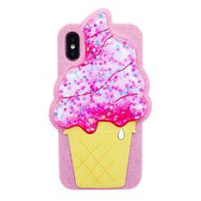 ice Cream 3D Liquid Glitter Silicone case cover for iPhone 7 8 plus 6 6s 7+ 6S+