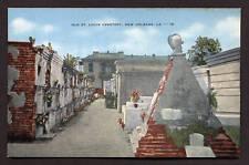 Vintage Postcard St. Louis Cemetery New Orleans Nola