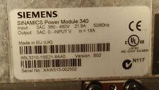 Siemens Drive 6SL32101SE218AA0  6SL3210-1SE218AA0 7.5 KW Sinamics 340