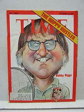 Sept 10, 1973- TIME Magazine- Bobby Riggs- Tennis Hustler VG