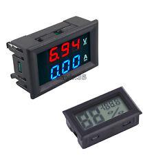 Digital 100V 10A DC Voltmeter Ammeter Blue + Red LED Amp Dual Volt Amp Meter
