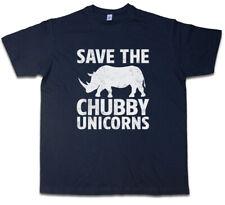 Save the Chubby unicornios t-shirt Rhino the last Cartoon rinoceronte unicornio Fun