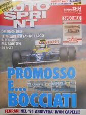 Autosprint 33-34 1990 Inserto spec.: 'Quei piloti di cuore'. Tecinca Ferrari sc5