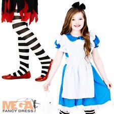 Storybook Alice + Collant Ragazze Costume World Book Day Settimana per Bambini Costume