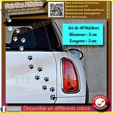 40 stickers autocollant empreinte TRACES PATTES DE CHAT deco voiture ipad frigo