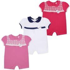 bébé filles coton court Combinaison Uni Chic barboteuse lace front 0-12 mois