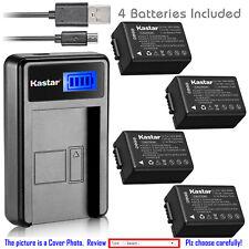 Kastar Battery LCD USB Charger for Panasonic DMW-BMB9 & Panasonic Lumix DC-FZ80