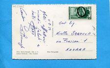 1952 (NOVARA) Bollo ovale piccolo muto usato in arrivo su £.10 LAVORO (230003)