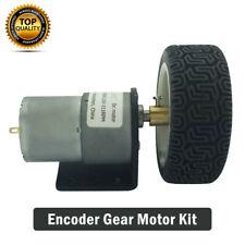 DC 12V Encoder Gear Motor 4mm Shaft with Mounting Bracket 65mm Wheel Kit