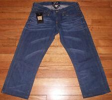 2797p NWT $100+ Sz 00 Blue LUCKY BRAND Riley Designer Distressed Capris Jeans!