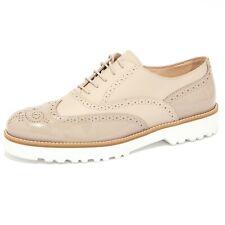 4084Q scarpa donna HOGAN ROUTE FRANCESINA beige/tortora shoe woman