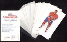1988-89-1991-92 POSTCARD MONTREAL CANADIENS AGENDA PHOTO & POST CARD SEE LIST