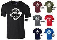 QUINT'S SQUALO Pesca T-Shirt-JAWS Amity Island 1975 BARZELLETTA Divertente Pesca sportiva