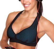 Compression Mesh Sports Bra XS-S Women Brazilian Supplex Racerback Athletic Top