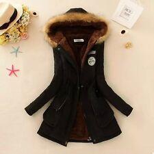 Damen Winterjacke Jacke Kurzmantel Mantel mit Kapuze 34-46 viele Farben BC309