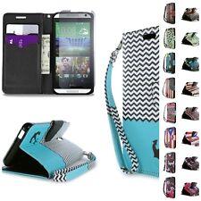 For HTC Desire 612 Case - Flip Folio Design Credit Card Cash Wallet Pouch Cover