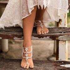 Sandals Foot Chain Women Jewelry 1pc Bohemian Rhinestone Anklet Beach Barefoot