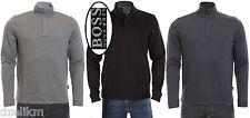 NWT Hugo Boss Black Label Sweater Cotton Blend Pullover 1/4-Zip Sweatshirt