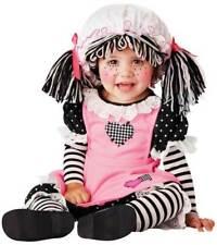 Cute Adorable Baby Rag Doll Dress Halloween Costume Mop Cap Bloomer Infant Girls