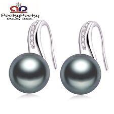 Sterling Silver & Freshwater Natural Pearl Drop Stud Hoop Earrings Jewelry New