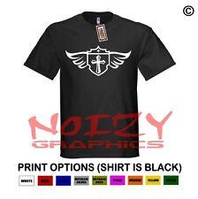 Cross Wings #6 Christian Shirt Black T-Shirt Jesus Cross Faith Religious Rock