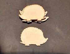 wooden craft HEDGEHOG shapes, laser cut 3mm mdf embellishments