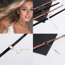 New Round Ring Velvet Charm Pendant Choker Necklace Gothic Retro Jewelry Gift Z