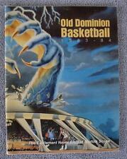 1983-84 Old Dominion Monarchs Basketball Press/Media Guide