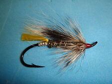 FLY FISHING FLIES - Traditional BLACK RAT Salmon/Steelhead Fly size #4 (6 ea.)