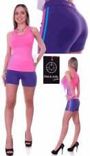 Jam & Jelly Fitness Multi-color Stretch Short & Tank Gym Wear Set