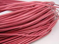 Lederschnur (ab 0,43€/m) Rund 2 mm. Pink. Lederband. Länge: wählbar