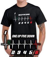 Fun t-shirt moto 1 up 5 down circuito Gang Shift pattern tuning hechizo