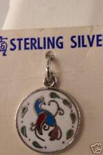 VINTAGE 1960'S ENAMEL STERLING SILVER DUTCH BIRD CHARM
