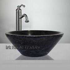 Marble Sink Bathroom Countertop Basin Vanity Wash Bowl Black Nero Marquina R12