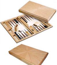 Large Oak Modern Design Backgammon Set. NIB. FREE P&P *parts of UK