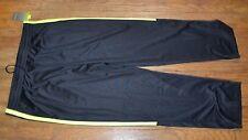 DryTek Men's Athletic Black & Neon Yellow Workout  Pants Tek Gear Track Pant