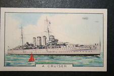 HMS Suffolk   Royal Navy Cruiser  Original 1930's  Colour Card # VGC