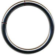 3x SET Segmentring TITAN G23 Klemmring Piercingring NASE INTIM BRUST LIPPE OHR