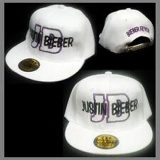 JUSTIN BIEBER SNAPBACK CAP HAT ***WHITE*** BIEBER FEVER I LOVE JUSTIN BIEBER