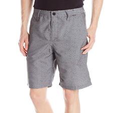 Hurley Men's Mariner Corby Polka Dot Supersuede Walkshort, Gray/Black NEW
