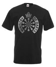 Mens Black Ministry of Darts T Shirt World Matchplay Top Metallic Silver Print